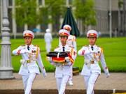 组图:越南举行降半旗仪式   对原越共中央总书记黎可漂致哀