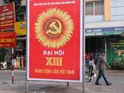 组图:喜迎越共十三大的海报挂满大街小巷