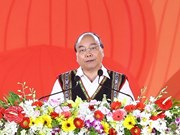 阮春福参加2018年西原锣铮文化节(组图)