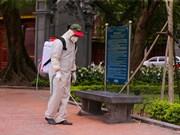 组图:首都河内对各处遗迹区展开消毒防疫工作
