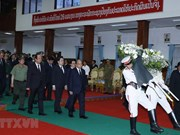组图:越南政府总理阮春福出席原老挝政府总理西沙瓦•乔本潘大将的国葬仪式