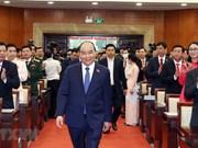 组图:政府总理阮春福出席越共胡志明市第十一次代表大会
