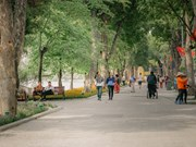 组图:首都河内还剑湖新颖的面貌