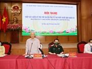 组图:越共中央总书记阮富仲接待河内选民