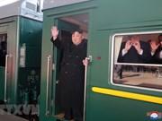 朝鲜最高领导人金正恩乘坐专列火车赴河内(组图)