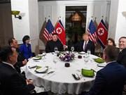 朝鲜领导人金正恩与美国总统特朗普共进晚宴(组图)