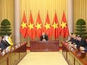 越共中央总书记、国家主席阮富仲接受各国驻越大使递交国书(组图)