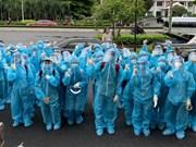 组图:胡志明市诸多医科大学生奔赴防疫第一线