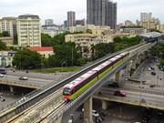 组图:河内轻轨呠站至河内火车站轻轨列车试跑