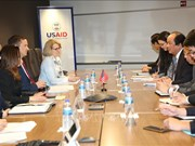 越南与美国国际开发署促进双方的合作关系向前发展