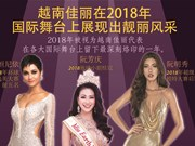 图表新闻:越南佳丽在2018年国际舞台上展现出靓丽风采