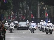 美朝领导人会晤:朝鲜最高领导人金正恩车队抵达美利亚酒店(组图)