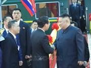 朝鲜最高领导人抵达同登火车站  开始越南之行(组图)