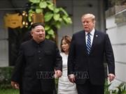 美国总统特朗普和朝鲜最高领导人金正恩一对一会晤后散步(组图)