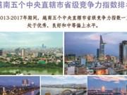 图表新闻:越南五个中央直辖市省级竞争力指数排名