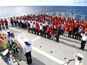 动人心弦的海军战士在鬼鹿角礁英勇牺牲31周年纪念典礼(组图)