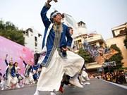 2019年河内日本樱花节的亮点 日本索朗祭舞蹈表演(组图)