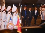 2019年美朝领导人会晤:美国总统特朗普抵达河内(组图)