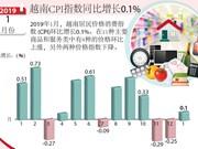 图表新闻:越南CPI指数同比增长0.1%