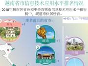 图表新闻:越南省市信息技术应用水平排名情况
