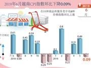 图表新闻:2019年6月越南CPI指数环比下降0.09%