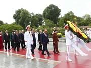 八月革命胜利和九·二国庆节74周年:党和国家领导人向英烈纪念碑敬献花圈(组图)