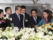 朝鲜劳动党代表团参观丹淮合作社和越南军队电信集团(组图)