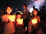 海阳省:六头江上的祈安法会和放花灯活动(组图)