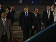 美国总统特朗普抵达越南 开始赴越出席美朝领导人第二次会晤之行