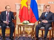 越南政府总理阮春福与俄罗斯总理梅德韦杰夫举行会谈