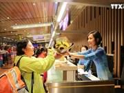 云屯国际航空港迎接来自深圳的首个国际航班