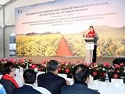 组图:国会主席阮氏金银走访越南TH True Milk俄罗斯奶牛场