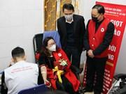 组图:河内市民志愿献血 响应2020年春红献血节