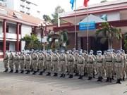 组图:越南三号二级野战医院干部战士为担任联合国维和行动做好准备