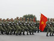 组图:越共十三大安保出征仪式暨安保应急处突演练在河内举行