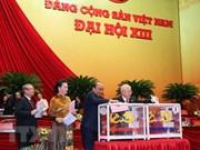 组图:越共十三大代表投票选举第十三届中央委员会