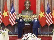 组图:越南国家主席阮春福会见美国副总统卡玛拉•哈里斯