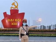 组图:越南职能力量努力确保越共十三大绝对安全