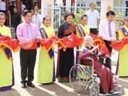 越南国会主席阮氏金银出席朔庄省革命基地兴建工程竣工仪式