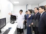 国会主席阮氏金银出席河内消化科与高科技中心揭牌仪式