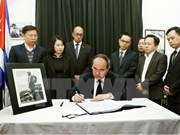 越南祖国阵线中央委员会主席阮善仁吊唁菲德尔·卡斯特罗·鲁斯