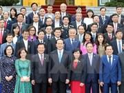 """越南国家主席陈大光会见荣获""""越南国家品牌""""称号的企业代表团"""