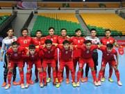 越南五人制足球队参加在中国举行的国际四强赛