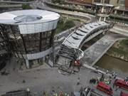 吉隆坡生态城一立交桥垮塌导致一名越南籍施工人员死亡