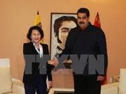 越南国会主席阮氏金银会见委内瑞拉总统尼古拉斯·马杜罗