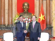 越南国家主席陈大光会见缅甸内政部部长觉瑞