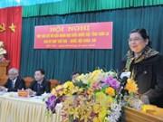 越南国会领导继续与各地选民接触