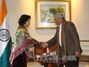 越南国会主席阮氏金银会见印共总书记亚秋里