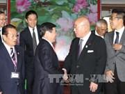 胡志明市领导会见日越友好议员联盟特别顾问