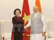 越南国会主席阮氏金银会见印度总理纳伦德拉·莫迪